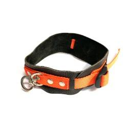 Hundehalsbånd Orange M. Læder